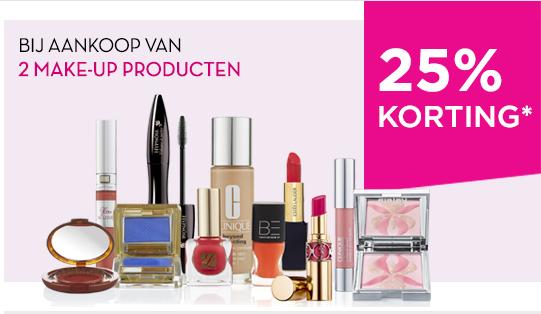 25% korting bij aankoop van 2 make-upproducten @ Ici Paris XL