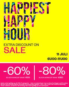 Happy Hours: do 6-11 u: 60-80% EXTRA korting op sale @ Maison Lab