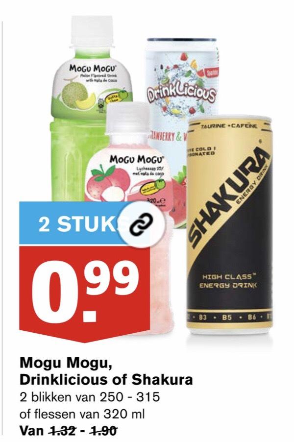 2 stuks Mogu Mogu, Shakura of Drinklicious