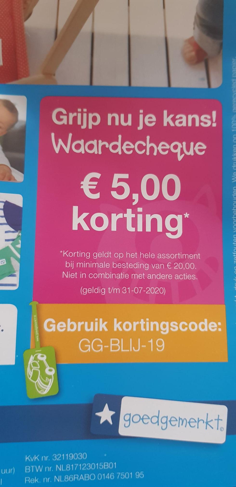 Alles goedgemerkt 5 euro korting