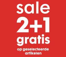 SALE 2+1 GRATIS + 10% extra met code @ HEMA
