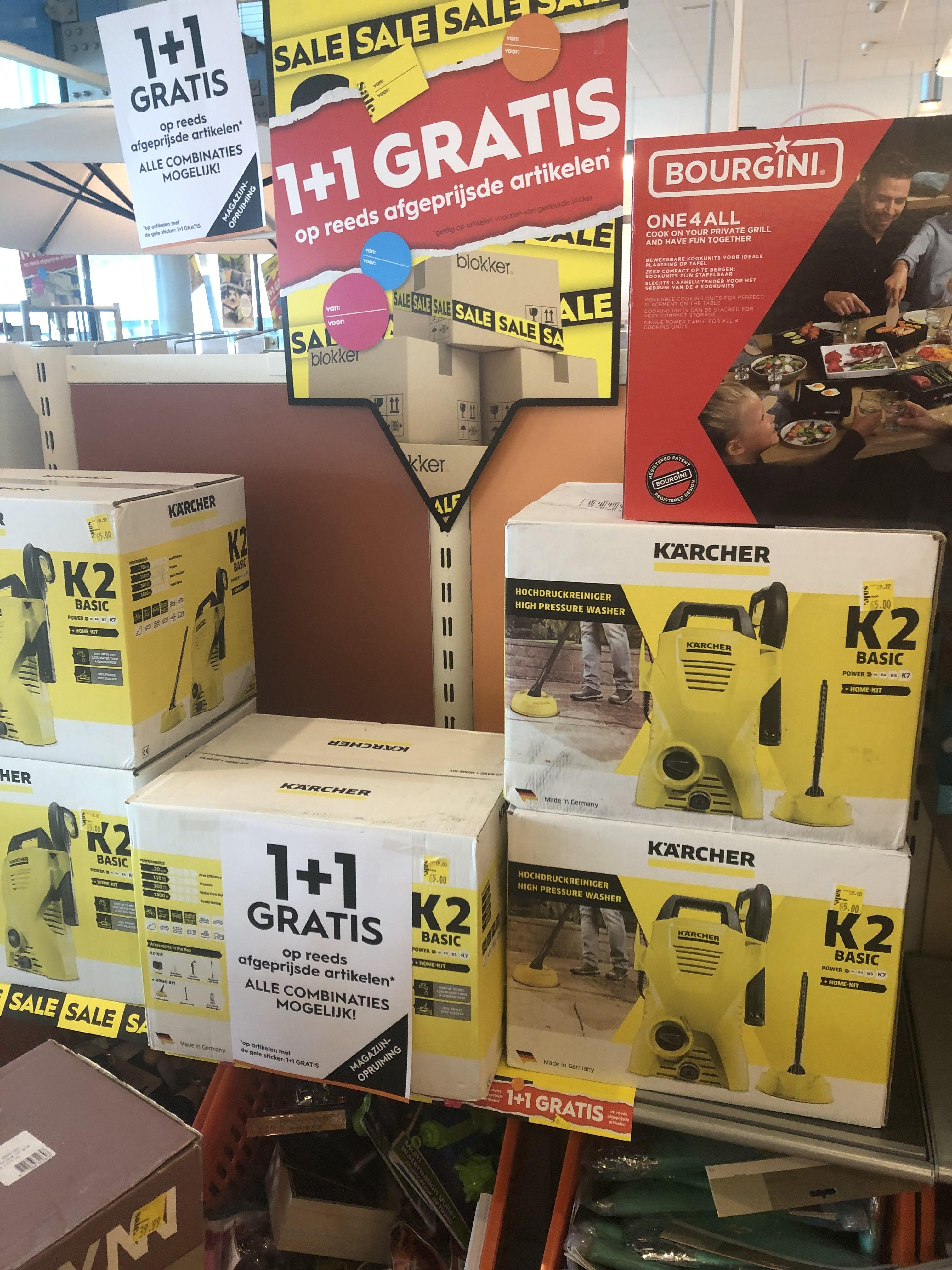 karcher K2 bij Blokker Maxis 1+1