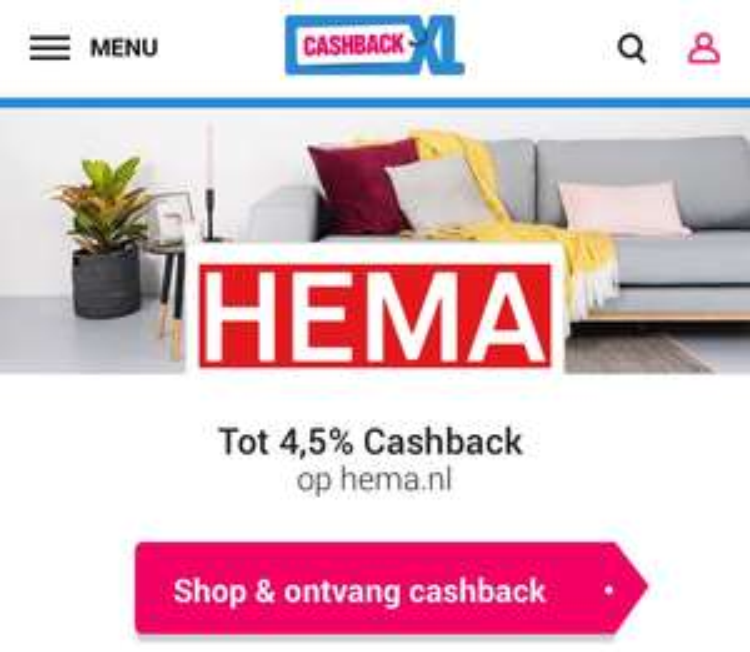 Voorwaarde CashbackXL Hema klopt niet / voordeel!