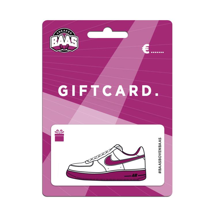 Gratis digitale giftcard van €5 door kortingscode (stapelbaar) @ Sneakerbaas