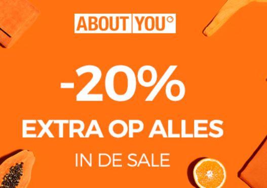 Met code 20% EXTRA korting op sale (va €75) @ About You