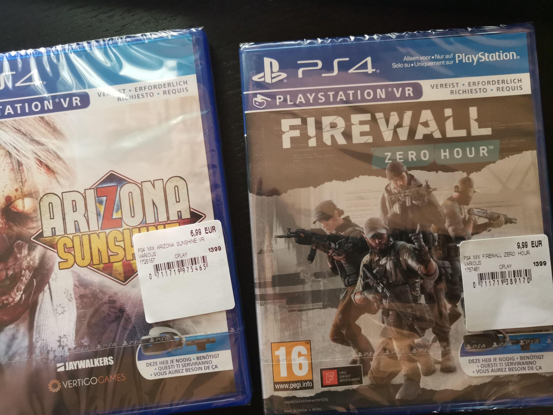 [Grensdeal België] Mediamarkt : PSVR games - Firewall Zero Hour,etc.
