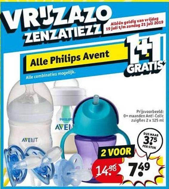 (1+1 gratis) op alle Philips Avent | v.a. 19 juli @Kruidvat