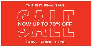 FINAL SALE met tot 70% korting - dames - heren - kids @ River Island