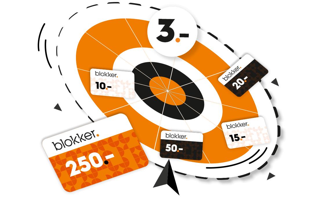 Draai aan het rad en win een cadeaukaart (€3 winkelkorting gegarandeerd) @ Blokker