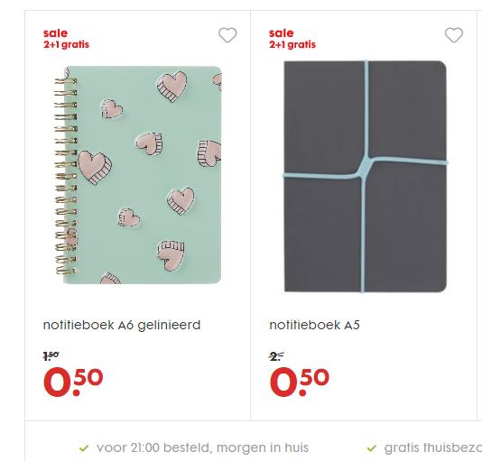 3 HEMA notitieboekjes voor 1 euro, check HEMA.nl (2+1 gratis)