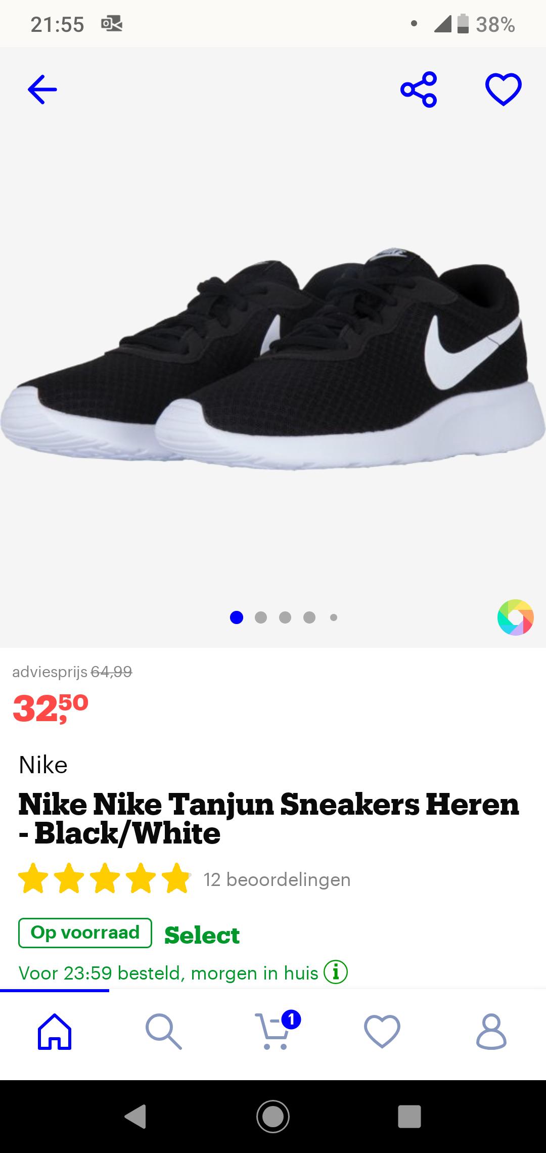 Nike tanjun zwart/wit 32,50! Bol.com