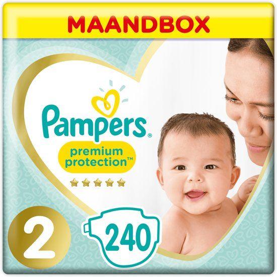 Pampers Premium Protection maat 2 Maandbox 240 stuks [11.7cent per luier]