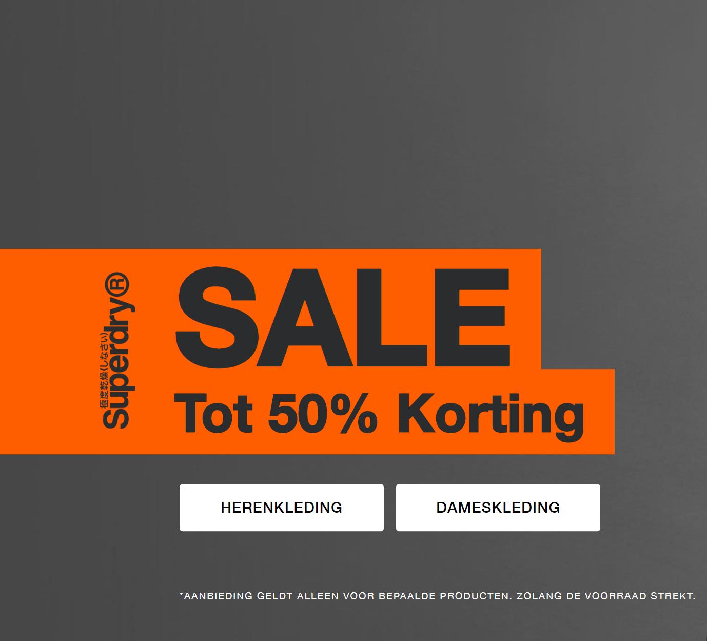 Sale met veel kortingen van 50% @ Superdry