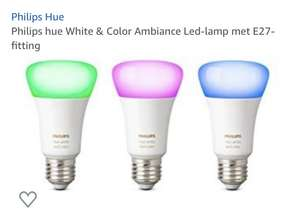 3 pack Hue white & color E27