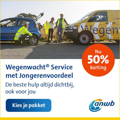 50% korting op 2 jaar ANWB Wegenwacht Service voor jongeren