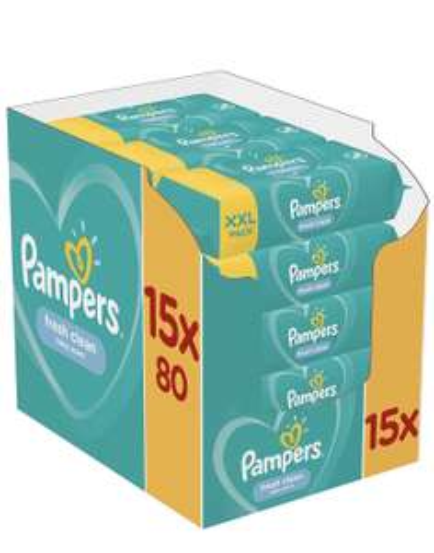 Pampers Fresh Clean billendoekjes 1200 stuks 15x80 (XXL verpakking)