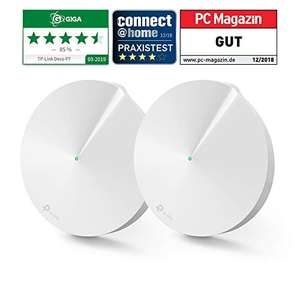 TP-Link Deco P7 Powerline WLAN network set 2-pack (1300 Mbits + 600 Mbits, Range up to 380 m², 4x Gigabit ports)