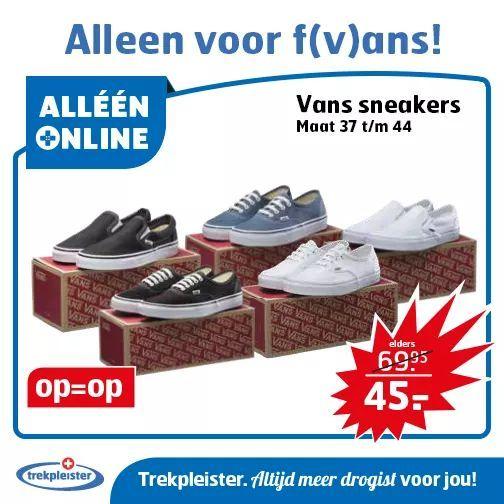 Vans sneakers vanaf €45,00 (Alleen online) || Trekpleister