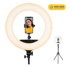 esddi Ring Light with Stand, LED Video Ring Light for camera and iPhone