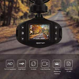 APEMAN Dashcam Kompakte Autokamera Mini Auto Kamera 1080P Full HD Video Recorder