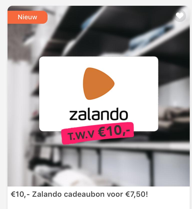 Tessa app: €10 Zalando cadeaubon voor €7,50 + 2300 punten