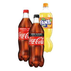 Coca-Cola Regular, Zero of Fanta 2 x 1 l.