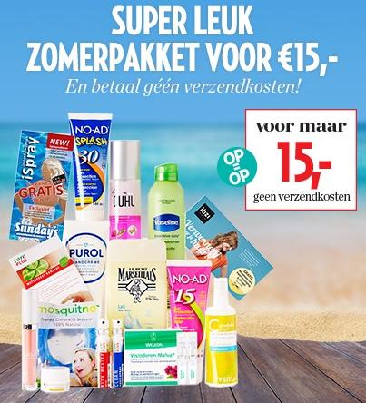 Zomerpakket voor €15 (geen verzendkosten) @ Veronica