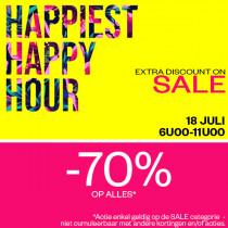 70% korting op alles in de sale (Happy Hour) @ Maison-lab
