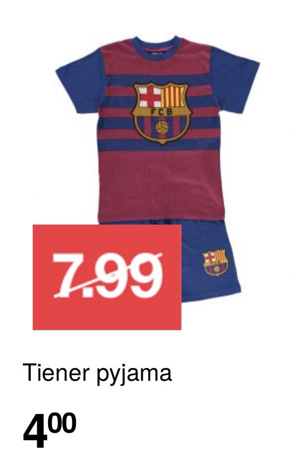 Kinderpyjama FC Barcelona (maat 122-164) €4.00 @ Zeeman