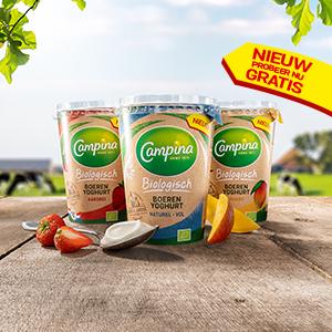 Eurosparen:  gratis Campina Biologisch Boerenyoghurt  +  Optimel Kefir