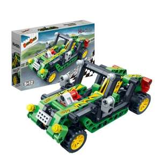 Bangbaos speelgoed auto; in elkaar te zetten.
