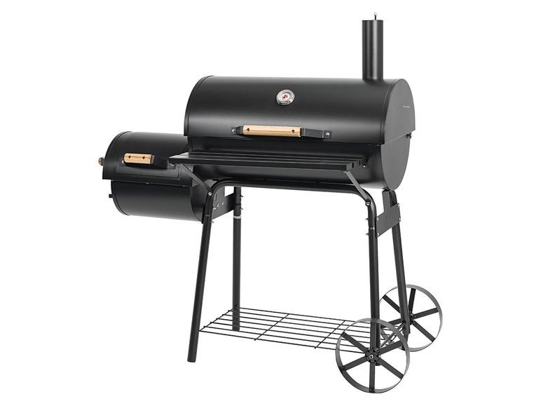 GRILLCHEF BY LANDMANN® Smoker barbecue Met geëmailleerde grill en praktisch warmhoudrek Geschikt voor ongeveer 10 personen