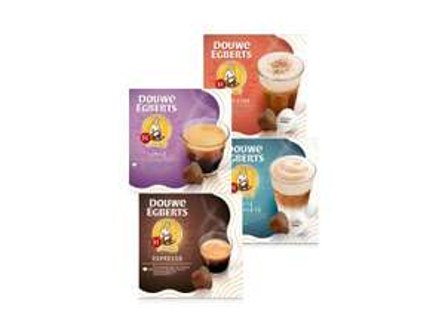 Douwe Egberts koffiecapsules voor Dolce Gusto machine, 2+2 GRATIS!