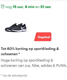 DAGDEAL | Tot 60% korting op sportkleding en schoenen bij bol.com