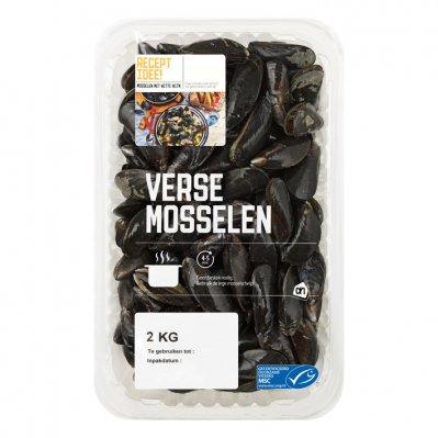 2KG WAS 8 euro AH Mosselen medium Normale prijs per KG € 4,002 kg