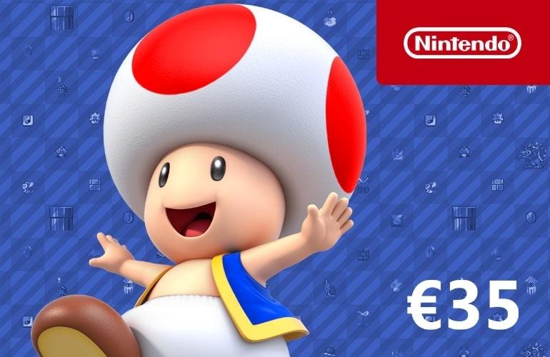 €35 Nintendo eShop Card (digitale code) tijdelijk voor €30 @ Nedgame