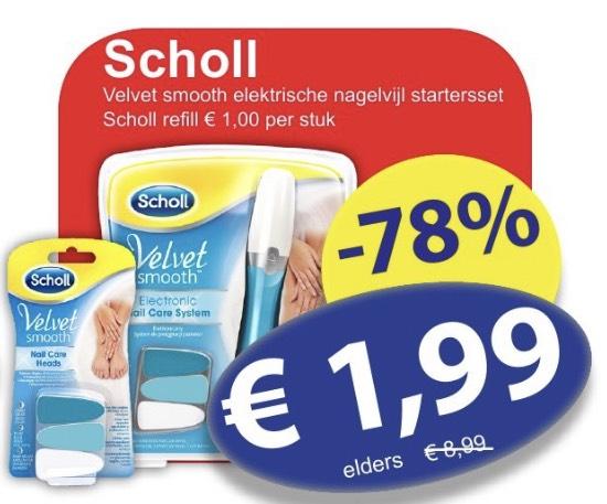 Scholl Velvet Smooth elektrische nagelvijl €1,99 + navulling €1,- @dieGrenze