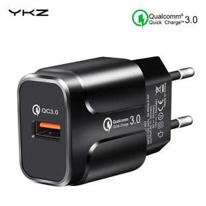 YKZ Quick Charge 3.0 18W Qualcomm QC 3.0 Snellader USB-poort Mobiele telefoon Oplader Voor iPhone Samsung Xiaomi