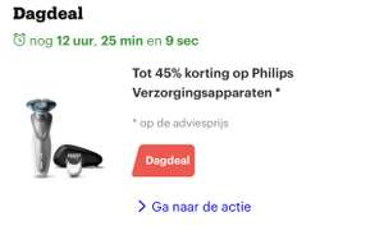 DAGDEAL tot -45% korting op Philips verzorgingsapparaten @ Bol.com