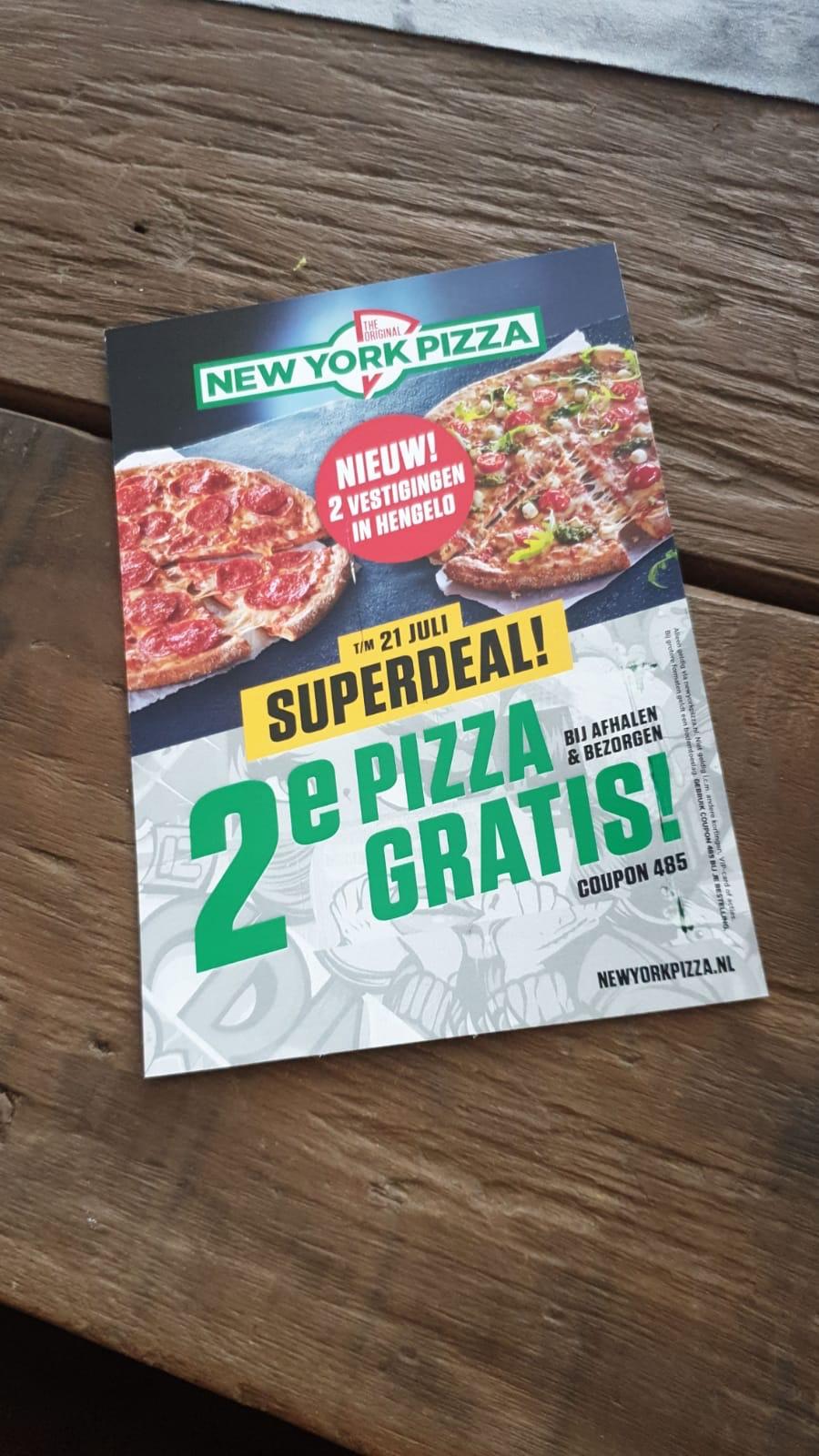 2e pizza gratis new york pizza @Hengelo Ov