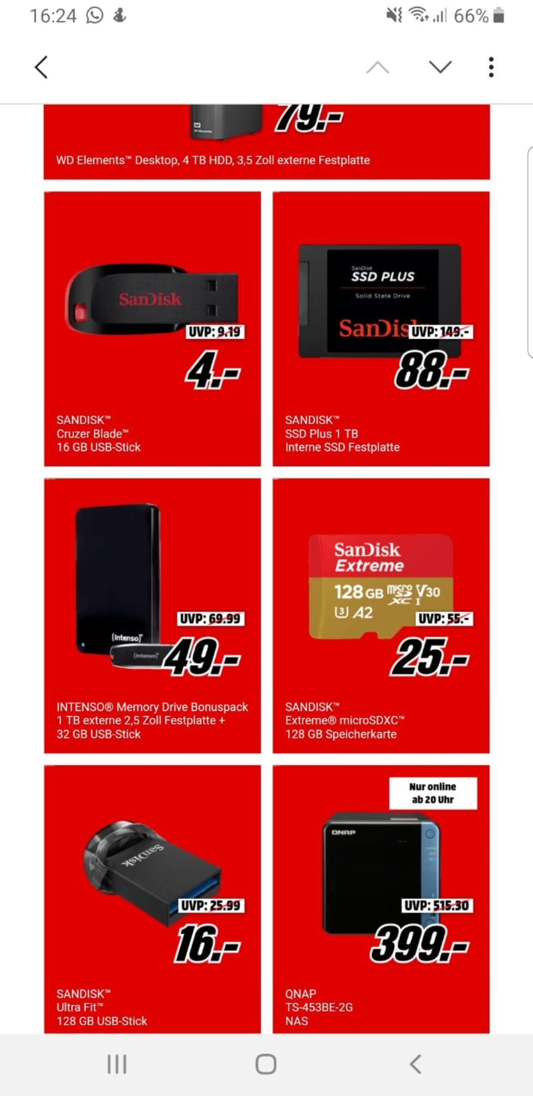 GRENSDEAL - MediaMarkt DE - Extern geheugen scherpe prijzen