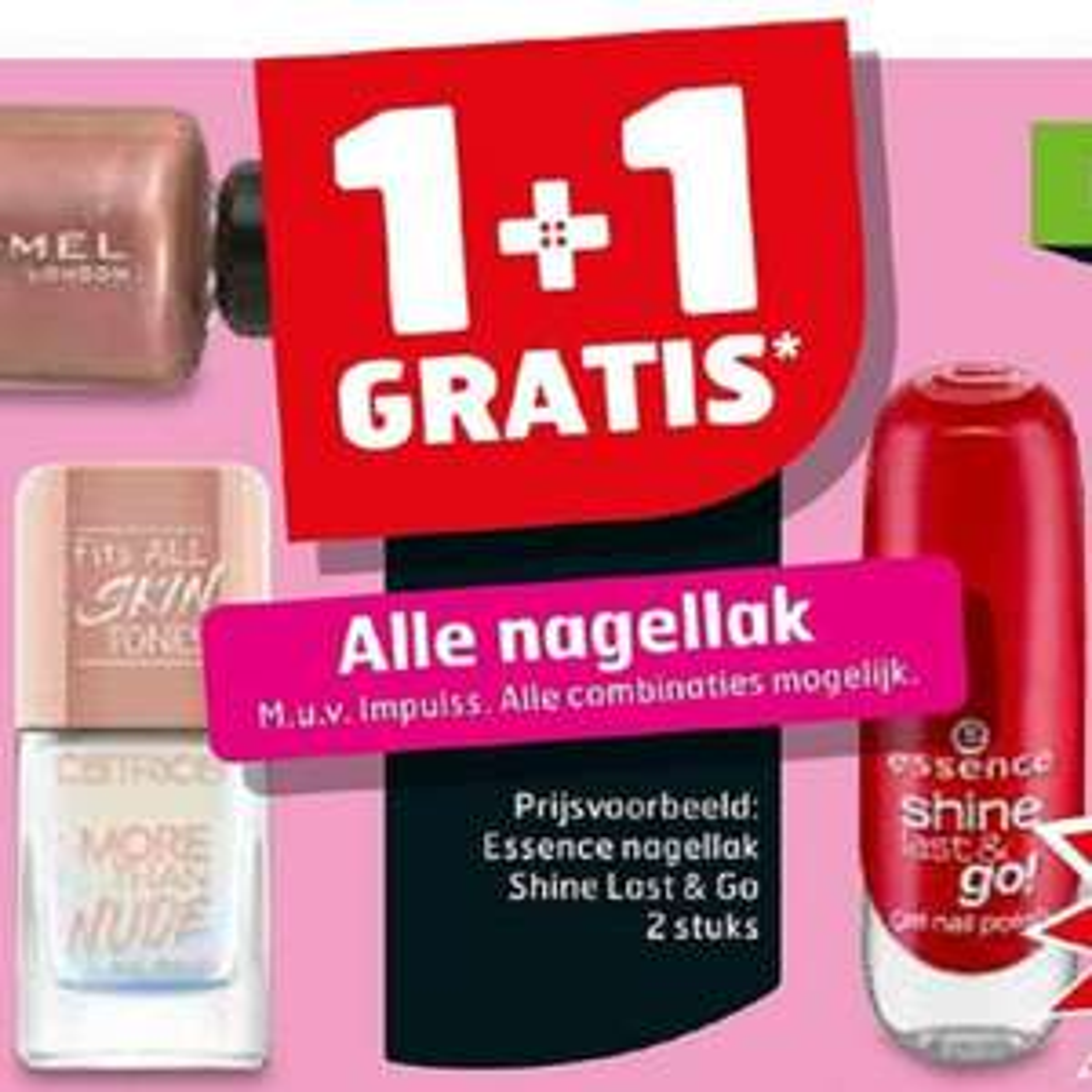 Alle nagellak (1+1 gratis) @Trekpleister
