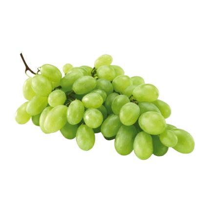 Witte druiven 500g voor 1 euro, 50% korting.