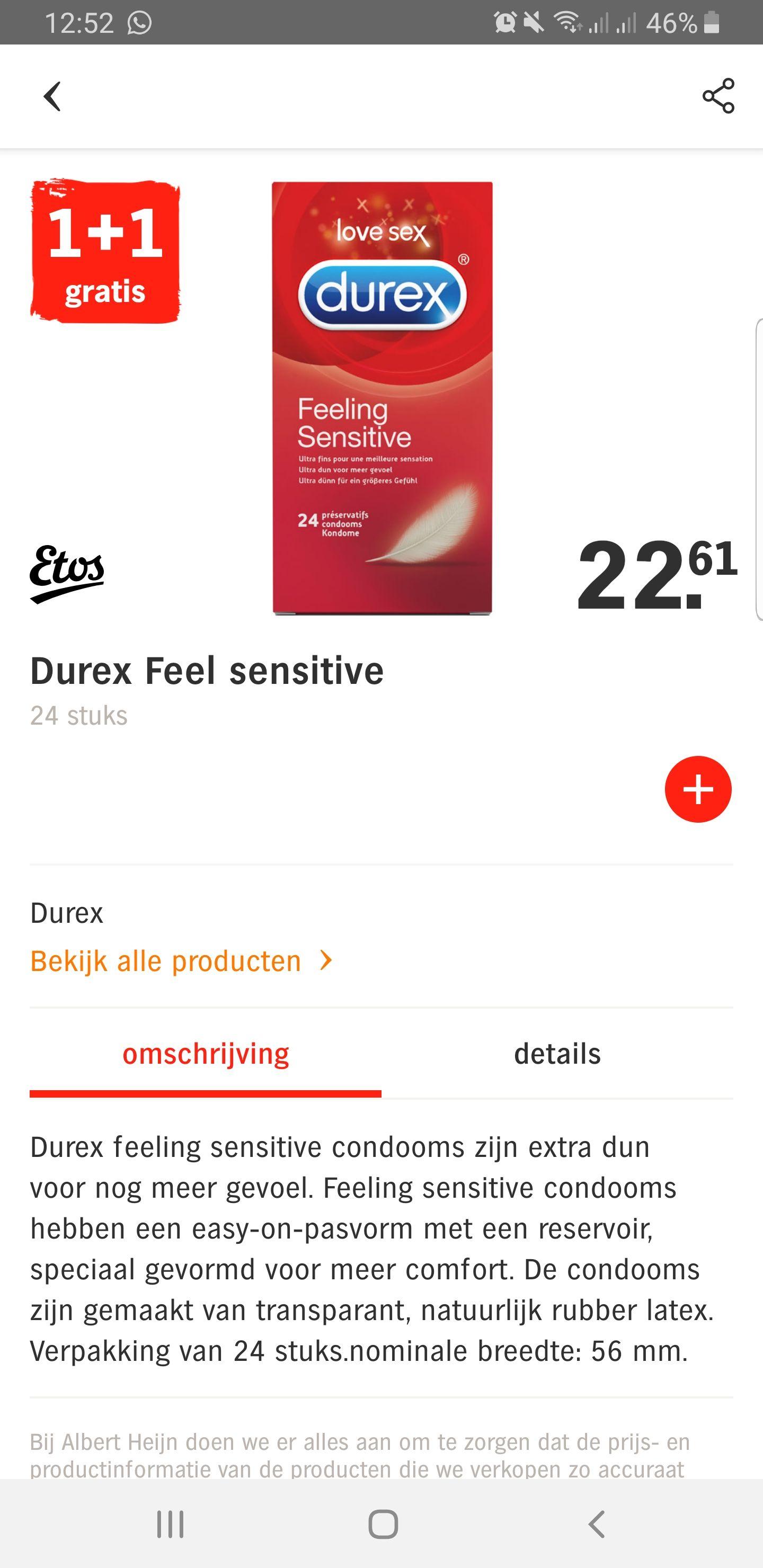 Diverse Durex condooms / glijmiddelen 1 + 1 gratis