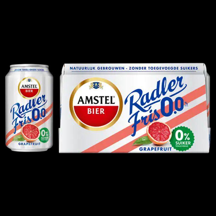 €3 cashback op Amstel Radler fris 0,0% Grapefruit