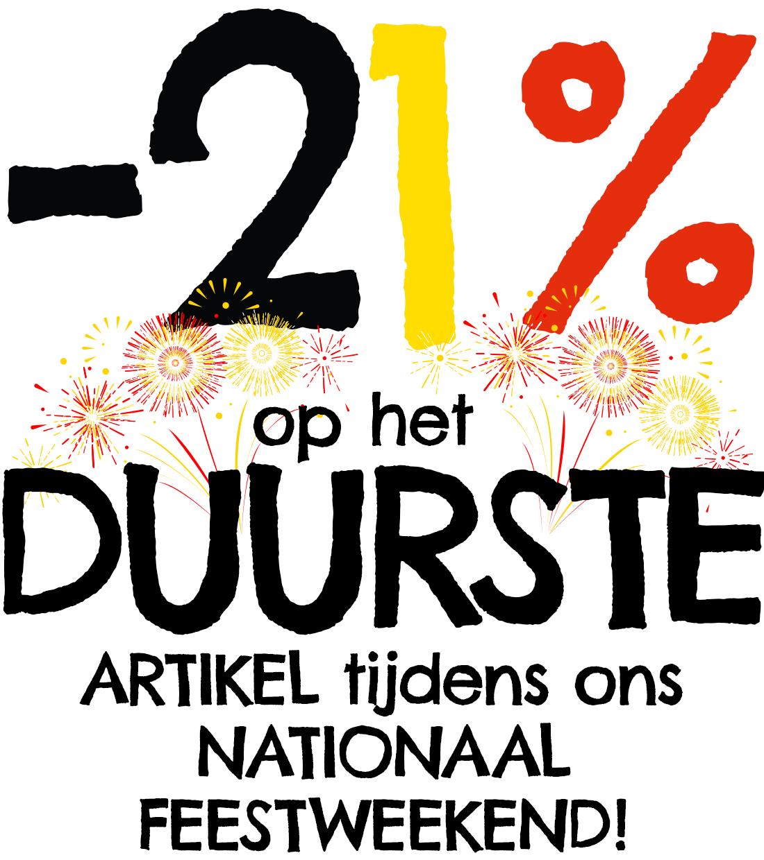 (België) 21% korting op 2de artikel bij Dreamland  (enkel vandaag nog)