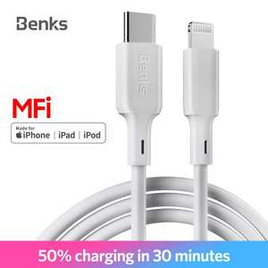56% Korting | Benks M13 MFi PD Kabel USB Lightning Type C fastcharge Voor iPhone X/ XS/XR/XS Max/8/Plus/iPad pro