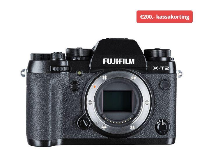 Fujifilm X-T2 systeemcamera Body + gratis VPB-XT2 Power Booster Grip @CameraNU.nl