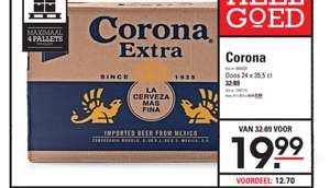 24 flesjes Corona @ Sligro