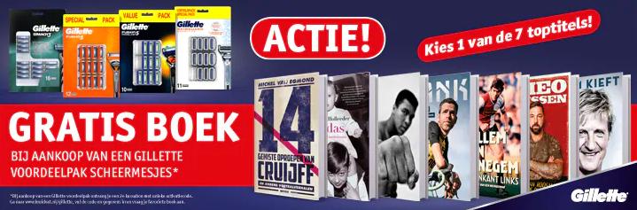 GRATIS Boek t.w.v. € 21,99 b.a.v. Gillette voordeelpakken